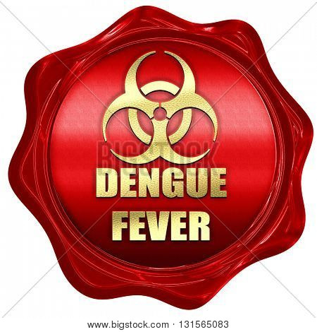 Dengue fever concept background, 3D rendering, a red wax seal