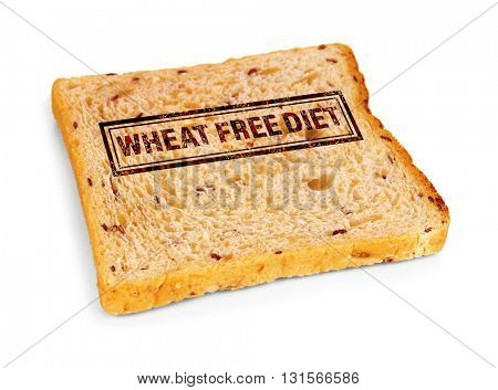 Toast bread, isolated on white. Health and diet concept