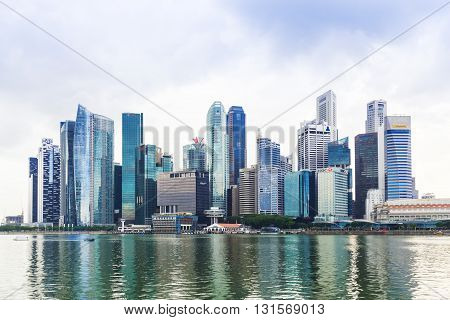 Singapore, 2016 January 14: Landscape Of Marina Bay Financial District