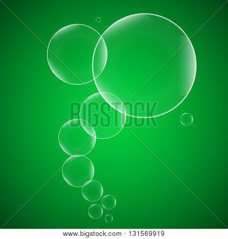 Set transparent soap bubbles eps10 vector. For your design and business.