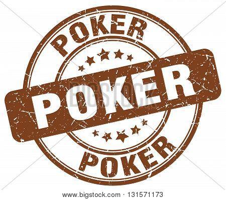 poker brown grunge round vintage rubber stamp.poker stamp.poker round stamp.poker grunge stamp.poker.poker vintage stamp.