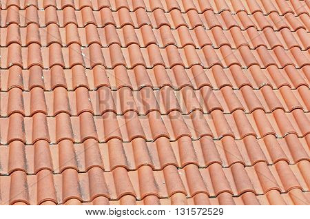 roof of a house in a village