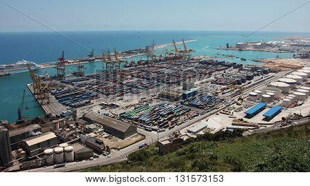 Port area of a large European city