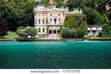 GARGNANO, ITALY - JUNE 25, 2013: Grand Hotel a Villa Feltrinelli
