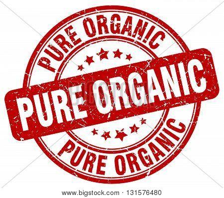 pure organic red grunge round vintage rubber stamp.pure organic stamp.pure organic round stamp.pure organic grunge stamp.pure organic.pure organic vintage stamp.