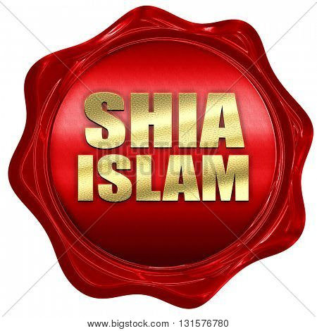 shia islam, 3D rendering, a red wax seal