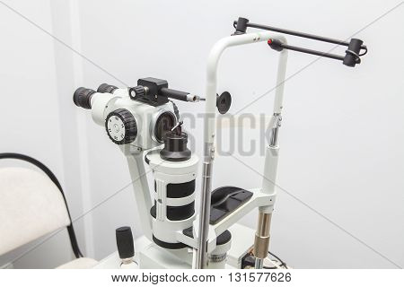 Refractometer In The Office Of An Ophthalmologist