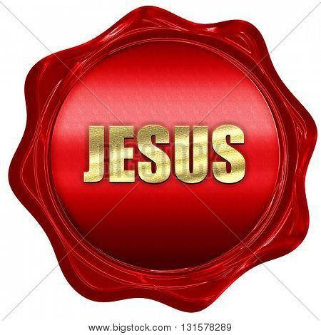 jesus, 3D rendering, a red wax seal