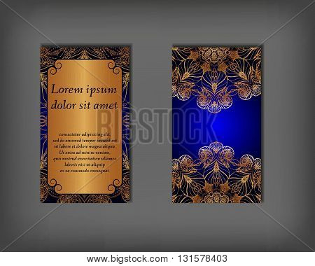 Set Of Business, Invitation, Save The Date Card Template, Abstract Elegant Pattern Vector Design Edi