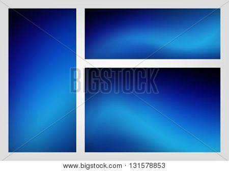 Abstract blue black color gradient blur background illustration vector
