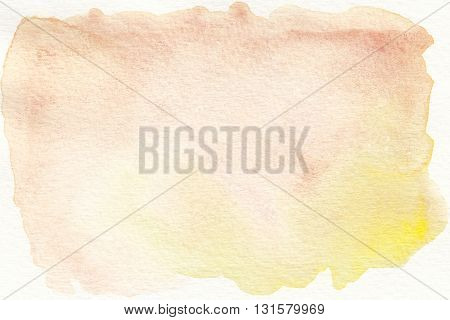 the faded brown yellow watercolor  textures background