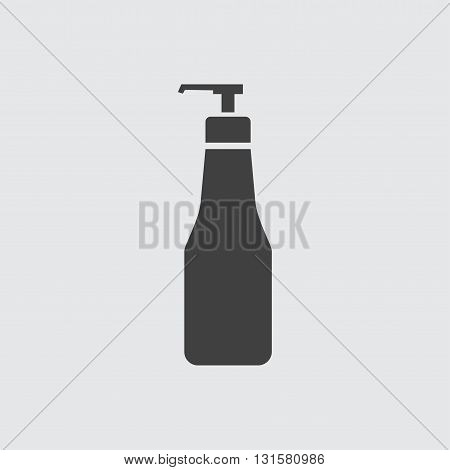 Pump shampoo bottle icon illustration isolated vector sign symbol