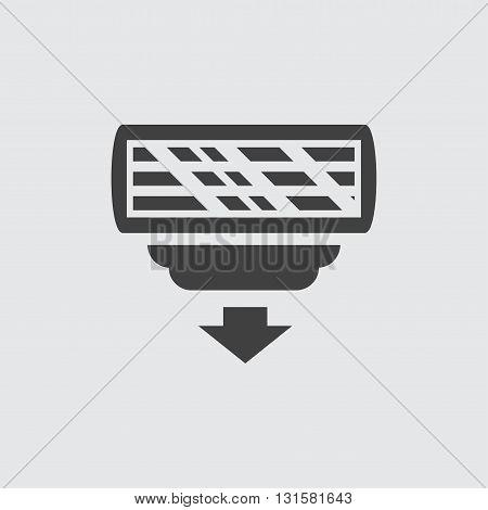 Razor head icon illustration isolated vector sign symbol