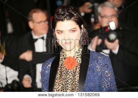 Soko attends the 'It's Only The End Of The World (Juste La Fin Du Monde)' Premiere during the 69th annual Cannes Film Festival at the Palais on May 19, 2016 in Cannes, France.