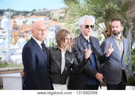 CANNES, FRANCE - MAY 19: Iggy Pop,  Jim Jarmusch attend the 'Gimme Danger' photocall during the 69th annual Cannes Film Festival at Palais des Festivals on May 19, 2016 in Cannes, France.