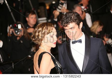 Valeria Golino, Riccardo Scamarcio attend the 'It's Only The End Of The World (Juste La Fin Du Monde)' Premiere during the 69th annual Cannes Festival at the Palais on May 19, 2016 in Cannes, France.