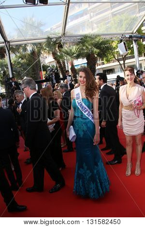 CANNES, FRANCE - MAY 19: Miss Cannes 2016 Lydia Lestan attends the 'Graduation (Bacalaureat)' Premiere during the 69th Cannes  Festival at the Palais des Festivals on May 19, 2016 in Cannes, France.