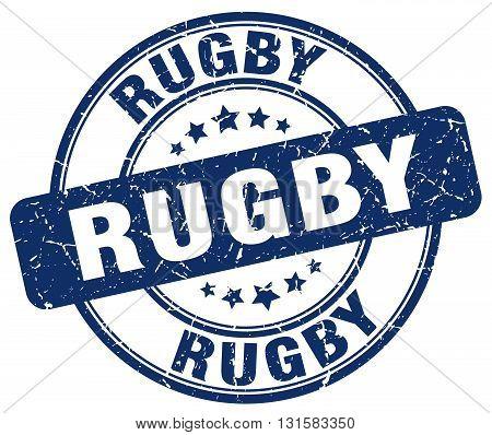 rugby blue grunge round vintage rubber stamp.rugby stamp.rugby round stamp.rugby grunge stamp.rugby.rugby vintage stamp.