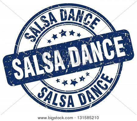 salsa dance blue grunge round vintage rubber stamp.salsa dance stamp.salsa dance round stamp.salsa dance grunge stamp.salsa dance.salsa dance vintage stamp.