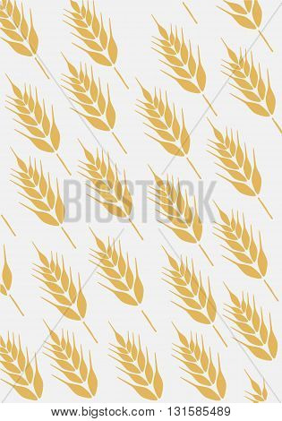 Background with ear of wheat - vector illustration.