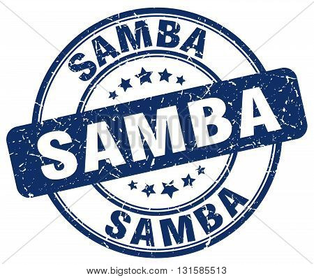 samba blue grunge round vintage rubber stamp.samba stamp.samba round stamp.samba grunge stamp.samba.samba vintage stamp.