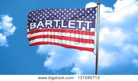 bartlett, 3D rendering, city flag with stars and stripes