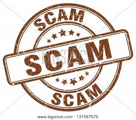 scam brown grunge round vintage rubber stamp.scam stamp.scam round stamp.scam grunge stamp.scam.scam vintage stamp.