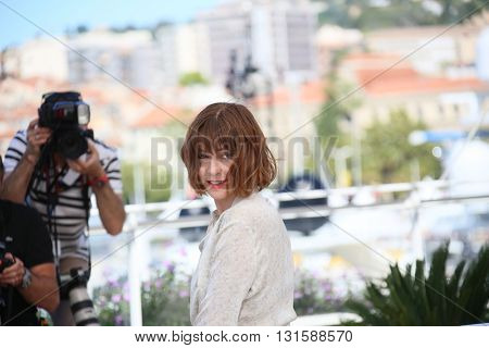 CANNES, FRANCE - MAY 19: Marie-Josee Croze attends the Jury De La Cinefondation & Des Courts Metrages Photocall during the 69th  Cannes Film Festival at the Palais on May 19, 2016 in Cannes, France.
