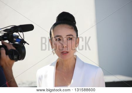 Naomi Kawase attends the Jury De La Cinefondation & Des Courts Metrages Photocall during the 69th  Cannes Film Festival at the Palais on May 19, 2016 in Cannes, France.