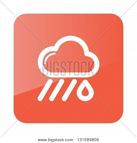 Rain Cloud outline icon. Downpour rainfall. Weather. Vector illustration eps 10