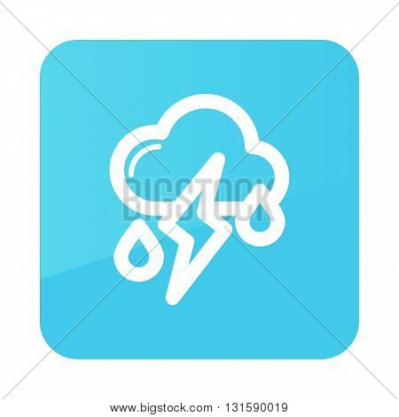 Cloud Rain Lightning outline icon. Meteorology. Weather. Vector illustration eps 10