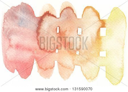 grunge wet abstract watercolor yellow red tones background