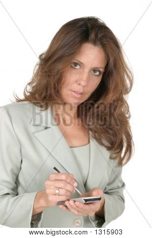 Business Woman Using Pda 2
