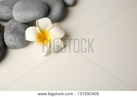 Beautiful spa composition on light grey background