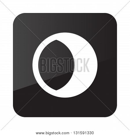 Young Moon outline icon. Sleep night dreams symbol. Meteorology. Weather. Vector illustration eps 10