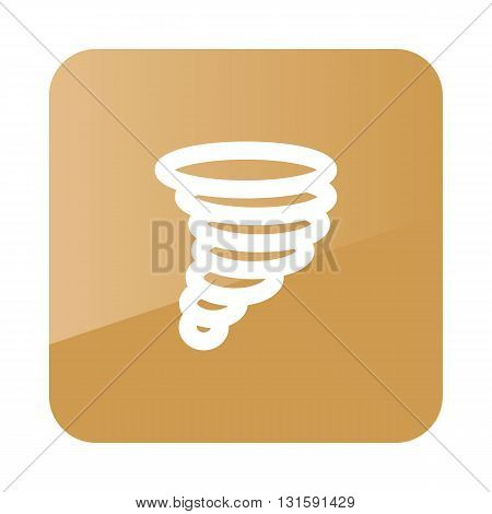 Tornado Whirlwind outline icon. Meteorology. Weather. Vector illustration eps 10