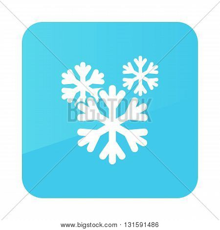 Snowflake Snow outline icon. Meteorology. Weather. Vector illustration eps 10