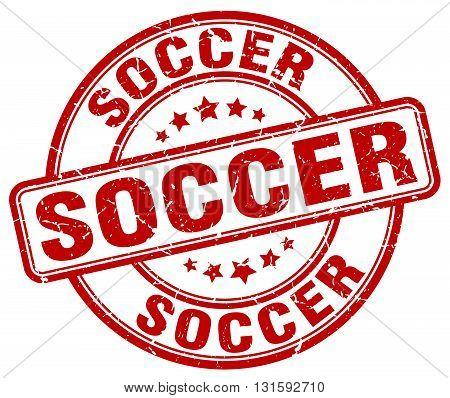 soccer red grunge round vintage rubber stamp.soccer stamp.soccer round stamp.soccer grunge stamp.soccer.soccer vintage stamp.