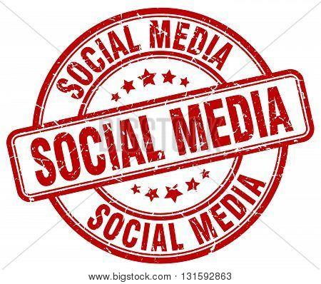 social media red grunge round vintage rubber stamp.social media stamp.social media round stamp.social media grunge stamp.social media.social media vintage stamp.