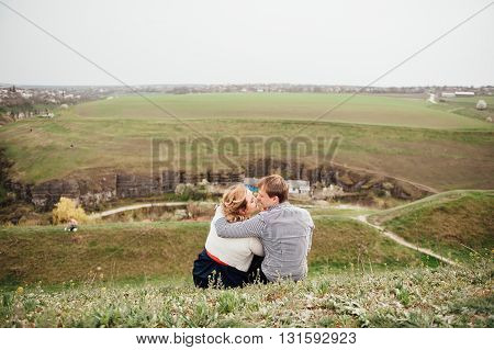 Happy Smiling Couple Having Fun Outdoors
