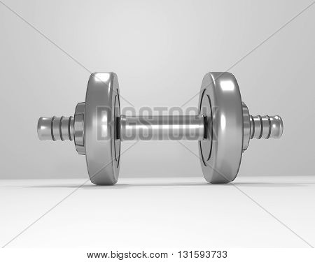 3d illustration depicting a set of weights.