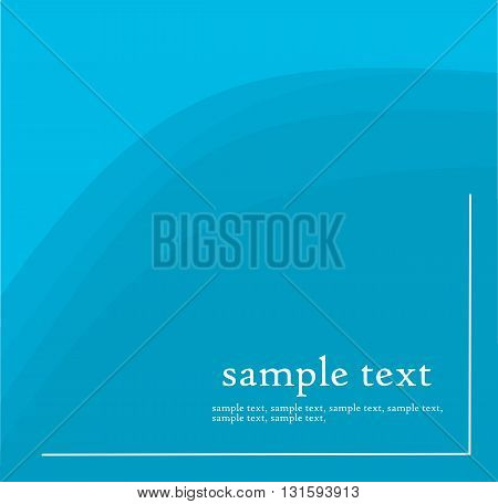Blue modern background with place for text - vector illustration.