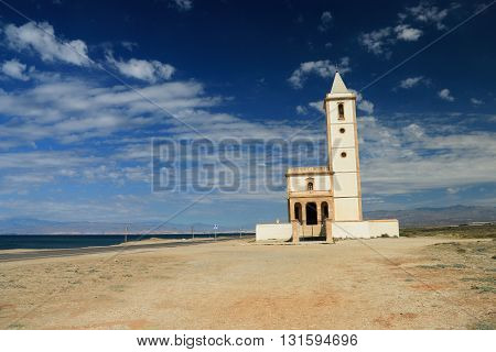 the church of Cabo de Gata-Nijar's natural reserve, Andalusia, Spain