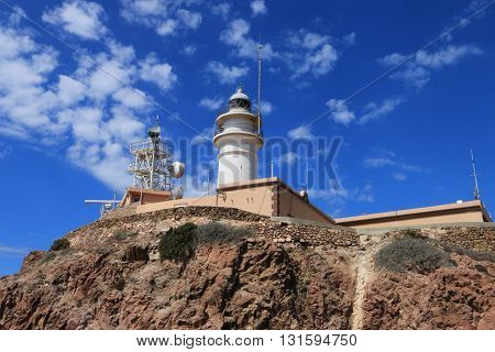 Lighthouse(Headlight) of Cabo de Gata-Nijar's natural reserve, Andalusia, Spain ,