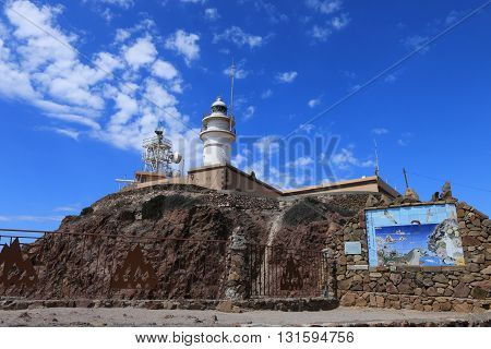 Lighthouse of Cabo de Gata-Nijar's natural reserve, Andalusia, Spain