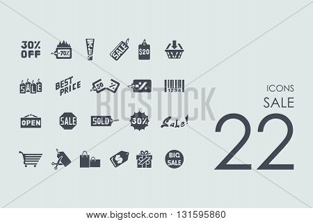 sale vector set of modern simple icons