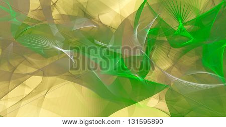 Abstract background in green and light brown colors . 3D illustration