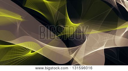 Abstract background in yellow,black and light brown colors . 3D illustration
