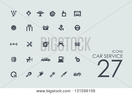 car service vector set of modern simple icons