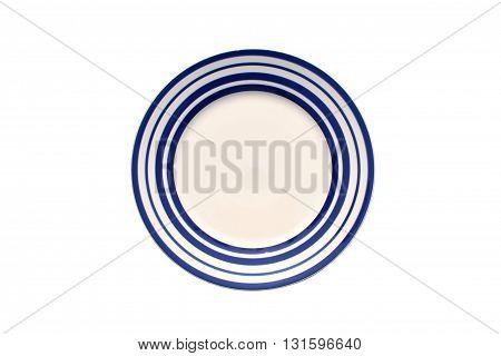 close up dish on isolated white background